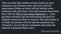 Example of the call to sabotage
