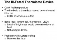 Using thermistor device to help out with measuring body heat