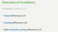 The list of conditions