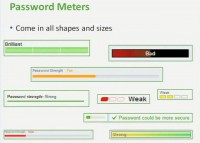 Different password meters out there