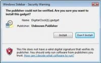 Typical security warning