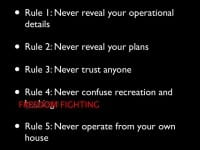 A concise set of rules