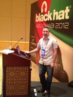 Tom Eston presenting at Black Hat Abu Dhabi