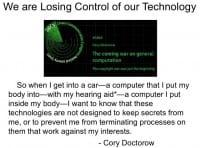 Cory Doctorow's quote