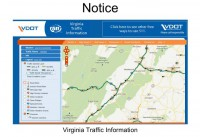 Example of a web page with traffic information