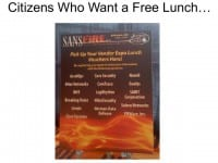 Personal data in return for a free lunch
