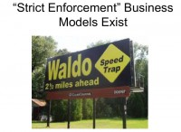 Demonstration of strict enforcement