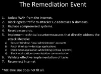 Constituents of a remediation event