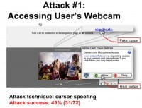 Attack involving user's webcam access