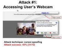Attack involving user's webcam access