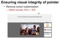 Ensuring pointer's visual integrity