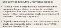 A few Eric Schmidt's quotes