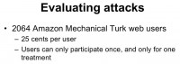 Attack evaluation methodology
