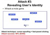 Revealing user's identity