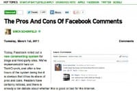 TechCrunch implementing new commenting system