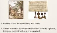 Identity vs. name