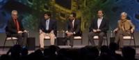 Panel participants (left to right): David Kirkpatrick, Sameer Hinduja, Mark Krause, Joe Sullivan and Jaana Juvonen
