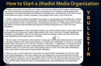 Instruction on starting a Jihadist media organization