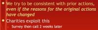 Consistency quirk