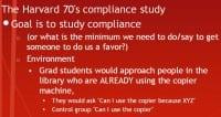 Compliance study