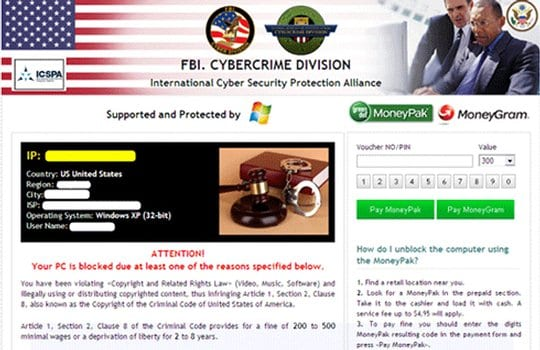 The FBI Cybercrime Division virus