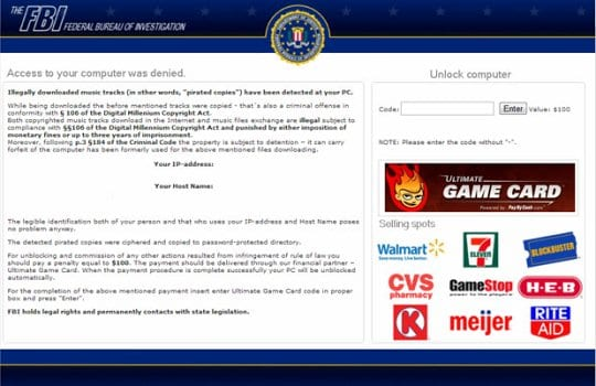 The FBI Ultimate Game Card virus