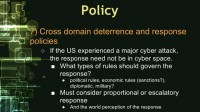 Hurdle 7: deterrence and response policies