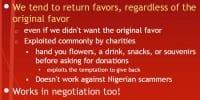 Tendency to return favors