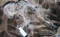 Satellite view of the Fordow facility