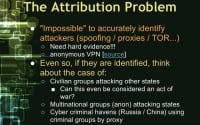 Identifying the attackers