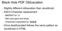 PDF obfuscation, in a nutshell