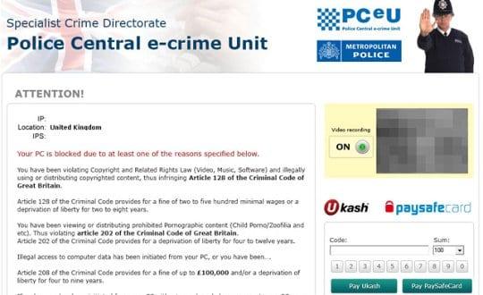 PCeU Specialist Crime Directorate lock page