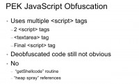 JavaScript obfuscation peculiarities