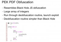 PEK's PDF obfuscation features