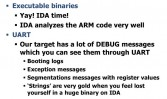 Benefits from using IDA and UART