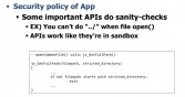 Security policy for apps