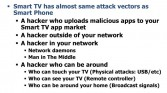 Smart TV attack vectors
