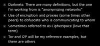 Darknets/Cipherspaces - background