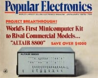 Altair 8800 advertised in Popular Electronics