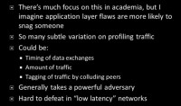 Traffic analysis attacks overview