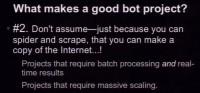 Bot-wise, think big