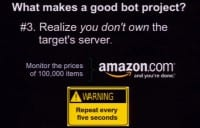 You don't own the target's server