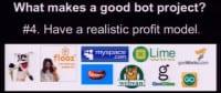 Importance of a realistic profit model