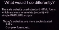 Some site architecture differences