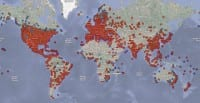Conficker - global propagation map