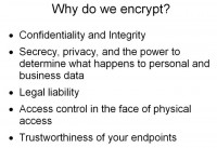 Motivations for encryption
