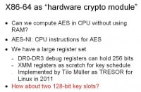 CPU as 'hardware crypto module'