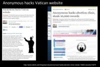 Some infamous hacks by Anonymous