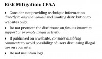 More precautions regarding the CFAA