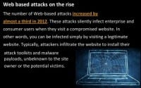 Steady growth of web based attacks